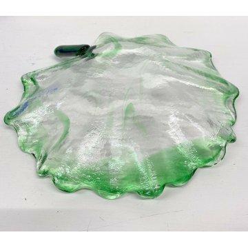 Vassoio vetro trasparente venature verde LA MURRINA svuota tasche GLASS DESIGN