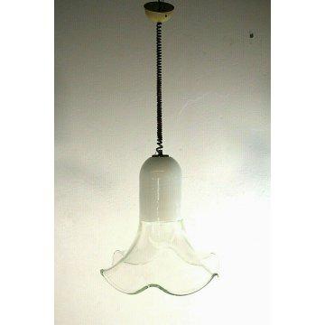 LAMPADA  SOSPENSIONE LEUCOS  DESIGN Toso Pamio CEILING LAMP MURANO GLASS 60/70s