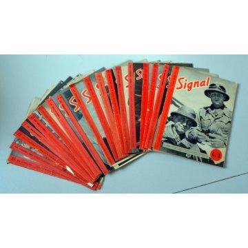 lotto 18 riviste signal GUERRA ITALIA GERMANIA ANNI VARI1941 43 44 MILITARE OLD