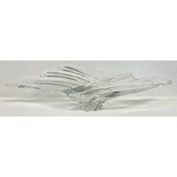 VASO CENTROTAVOLA DESIGN VETRO ART VANNES FRANCE ANNI 50 VINTAGE EPOCA 1950 GLAS