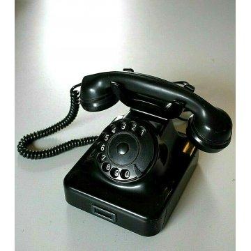 TELEFONO DISCO da APPOGGIO MODERNARIATO BACHELITE Siemens Milano FUNZIONANTE 69