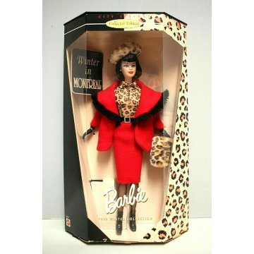 BARBIE 1999 Winter Collection CITY SEASONS Doll Winter in Montreal MATTEL 22258