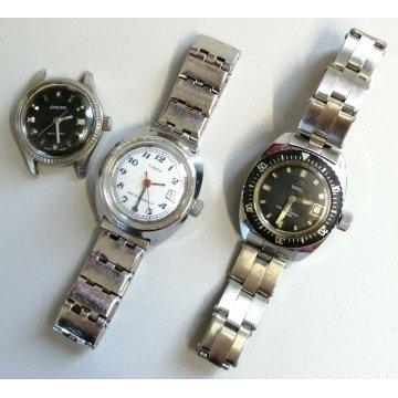 LOTTO 3pz OROLOGIO POLSO LADY Enicar Timex Breil MECCANICO VINTAGE WRISTWATCH