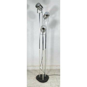 LAMPADA TERRA VINTAGE PIANTANA DESIGN ATTR. GOFFREDO REGGIANI METALLO CROMATO 60