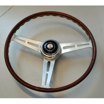 VOLANTE MASERATI EPOCA 1960 Malvino legno alluminio logo auto corse sportiva old