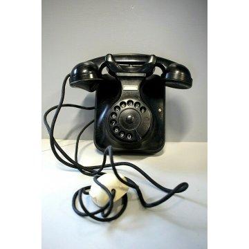 TELEFONO A DISCO DA PARETE MODERNARIATO SIP F.51 BACHELITE FUNZIONANTE ANNI '50