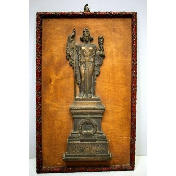 TARGA FREGIO Ignoto Militi BASSORILIEVO SCULTURA BRONZO Altare della Patria ROMA