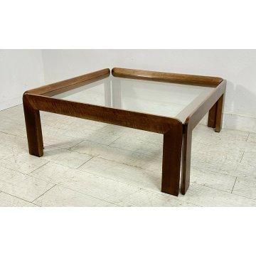 TAVOLINO CAFFE AFRA E TOBIA SCARPA CASSINA SALOTTO DESIGN VETRO VINTAGE TABLE