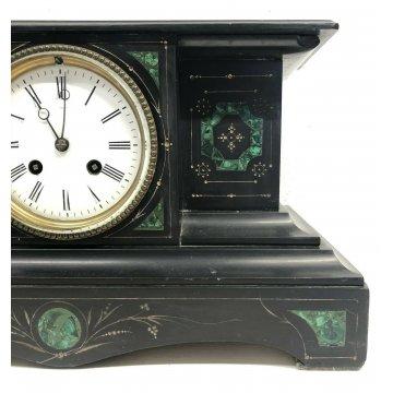 ANTICO OROLOGIO TAVOLO OFFICIER EPOCA 800 OLD CLOCK FUNZIONANTE CHIAVE VETRO