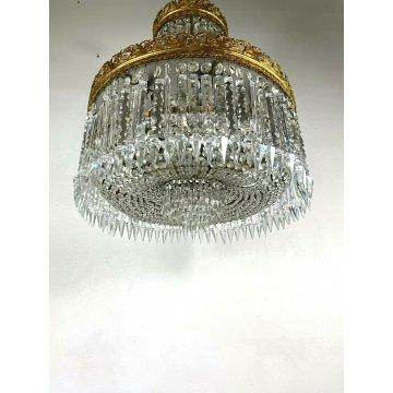 LAMPADARIO SOFFITTO CASCATA GOCCE CRISTALLO MURANO STILE IMPERO HANGIG LAMP ?50