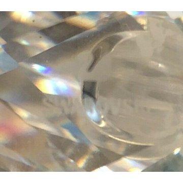 CIGNO SWAROVSKI PICCOLA SCULTURA CRISTALLO FIGURA ARREDO CRYSTAL GLASS VETRO