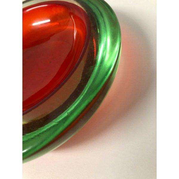 SVUOTA TASCHE VETRO SOMMERSO MURANO ART GLASS PORTA GIOIE POSACENERE VINTAGE OLD