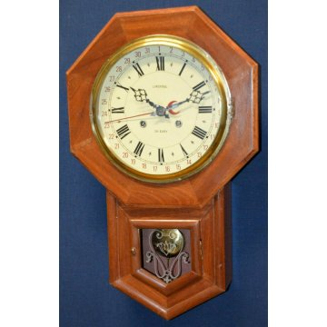 ANTICO OROLOGIO PENDOLO MURO Lowenthal 31 day EPOCA 900 OLD WALL CLOCK PENDULUM