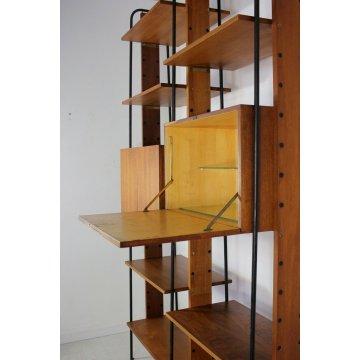 LIBRERIA MODULARE CENTRO A GIORNO STANDING WALL UNIT BOOKSHELF DESIGN ANNI 50/60