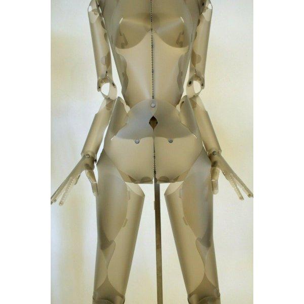 """COPPIA MANICHINO UOMO DONNA ESPOSITORE SCULTURA DESIGN """"Nudo"""" MD Studio 1980"""