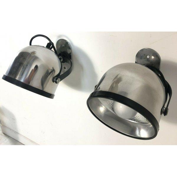 COPPIA LAMPADE PARETE STILNOVO GAE AULENTI DESIGN APPLIQUE MILANO ITALY ANNI 60