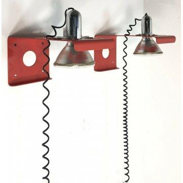 COPPIA LAMPADE PARETE DESIGN VINTAGE APPLIQUE DA MURO FUNZIONANTI ANNI 70 ITALIA