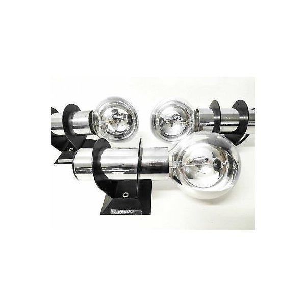 SET 5 APPLIQUE DESIGN TARGETTI SANKEY 1062 LAMPADA PARETE MURO CROMATA VINTAGE