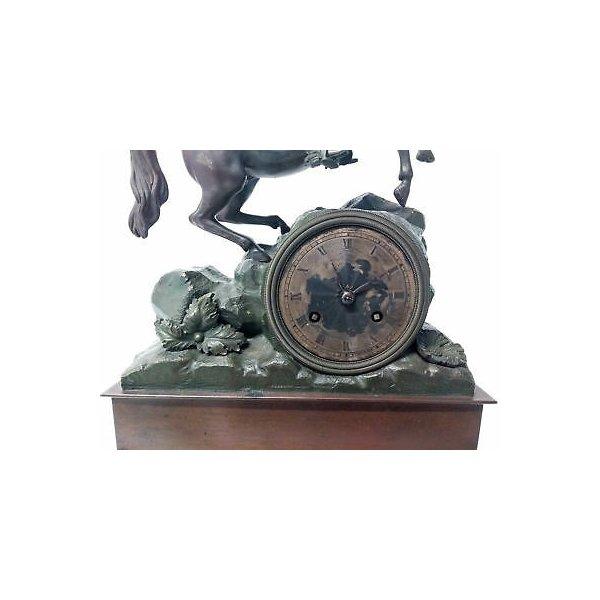 ANTICA PARIGINA OTTOCENTO OROLOGIO BAULLIER FILS PARIS 1830 EPOCA PENDOLO TAVOLO