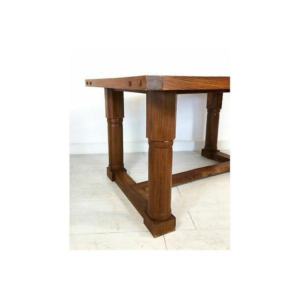TAVOLO LEGNO TEAK MASSELLO ORIENTALE ETNICO INDIANO PRANZO SALA VINTAGE TABLE