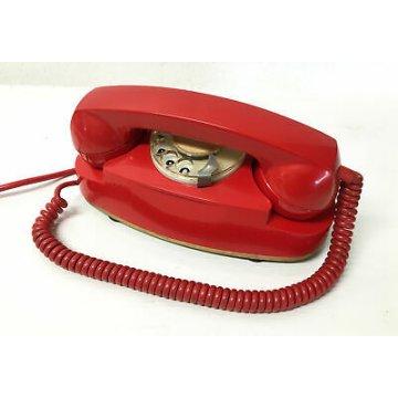TELEFONO SIP VINTAGE A DISCO COLORATO ROSSO DESIGN SIEMENS FACE STANDARD EPOCA