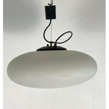 LAMPADARIO DESIGN SOFFITTO STILNOVO UFO ELLITTICO GLOBO HANGING LAMP 50 VINTAGE