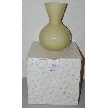 VASO DESIGN VENINI Idria H. 36 cm. VETRO MURANO scatola GLASS VASE collezione
