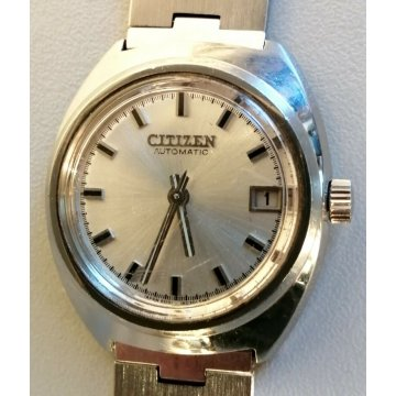OROLOGIO POLSO Citizen AUTOMATIC anni 70 VINTAGE OLD WRISTWATCH 72-8055 date