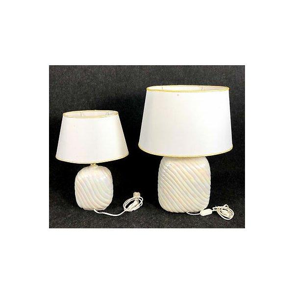 COPPIA LAMPADA DA TAVOLO ATTR. TOMMASO BARBI DESIGN VINTAGE TABLE LAMP EPOCA