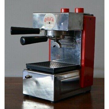 MACCHINA CROMATA ROSSA CAFFE' QUICK MILL OMRE AUTOMATICA VINTAGE ANNI 60 EPOCA