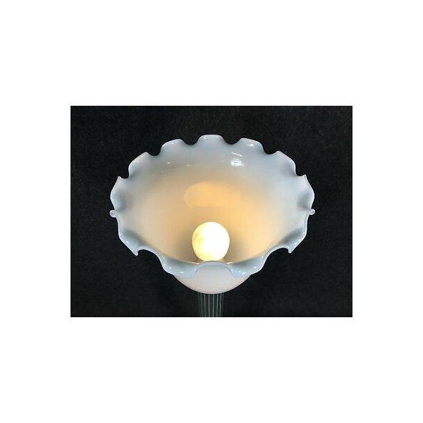LAMPADA DA TERRA A TULIPANO VETRO DESIGN VINTAGE FLOOR LAMP FRANCIA PARIGI EPOCA