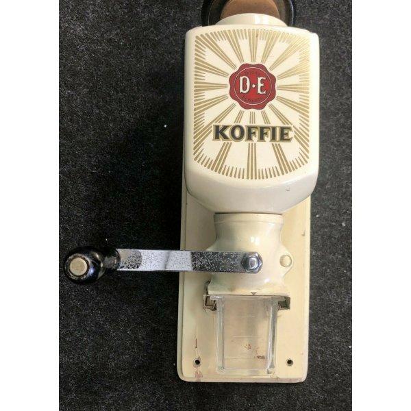 ANTICO MACININO DA CAFFE A PARETE DOUWE EGBERTS KOFFIE D.E CERAMICA FERRO OLD