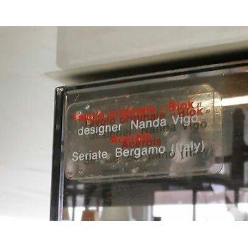 TAVOLO BLOK DESIGN NANDA VIGO PER ACERBIS VETRO CRISTALLO SPECCHIO SALA PRANZO
