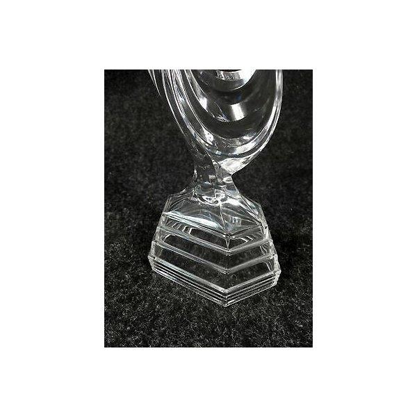 STATUINA CRISTALLO SCULTURA BALLERINA DANZATRICE STATUA GLASS FIGURES DESIGN
