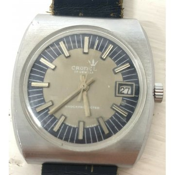 ANTICO OROLOGIO POLSO ANNI 60/70 CRONEL17 JEWELS WATCH SWISS MADE SHOCKPROTECTED