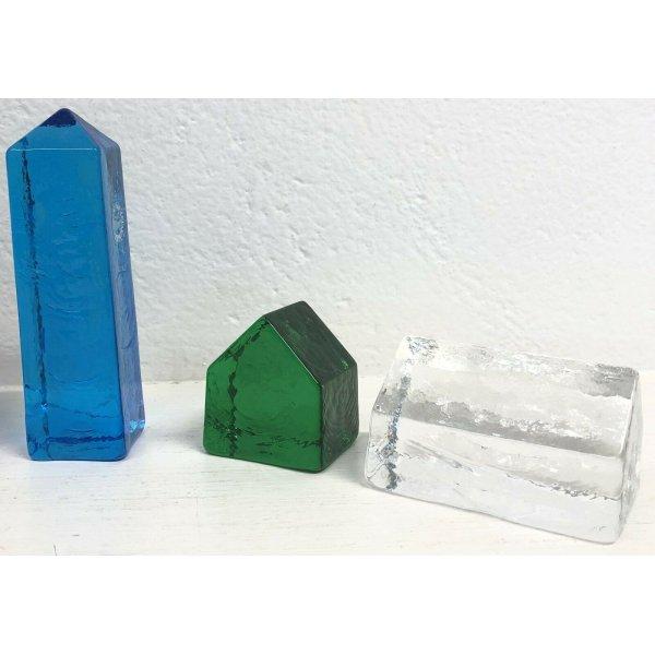SET 6 CASETTE VETRO VINCENZO NASON &C. MURANO ITALIA GLASS FERMACARTE MULTICOLOR