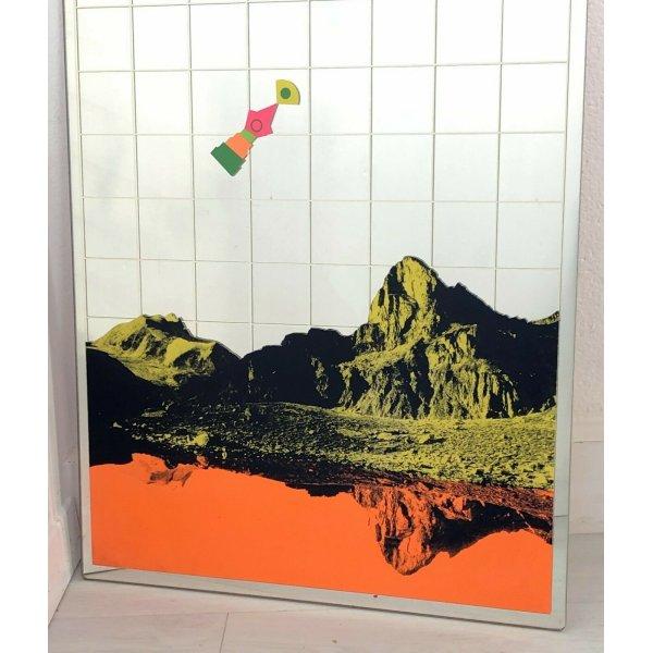 Spiegel Design Renato Volpini Siebdruck Bergen Jahre 60 Vintage Fashion Seltene