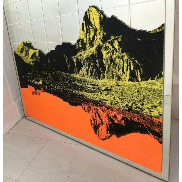Espejo Diseño Renato Volpini Bodas Montañas Años 60 Vintage Moda Raro
