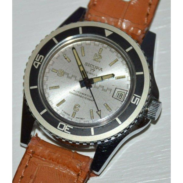 SICURA AUTOMATIC orologio polso VINTAGE anni 60 SPORT WATCH MONTRE collezione