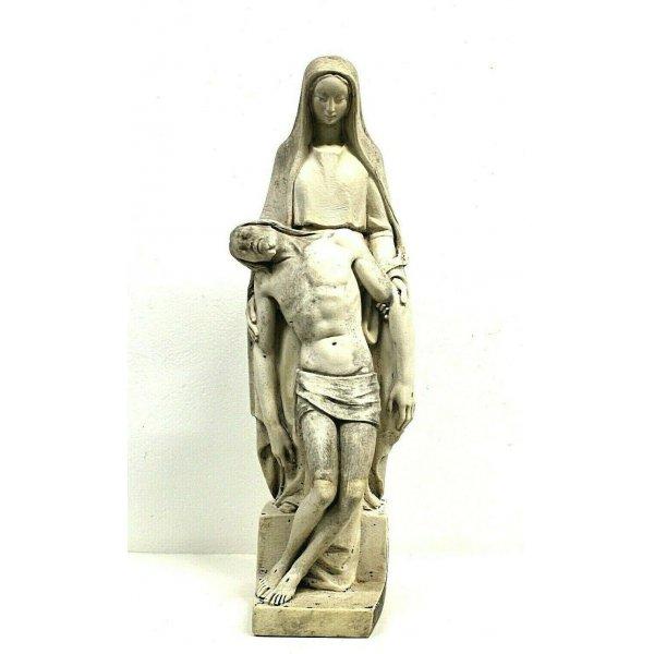 SCULTURA TUTTOTONDO MARMO BIANCO Lorenzo dal Torrione  MARIA MADRE GESU' '900
