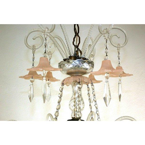 LAMPADARIO SOFFITTO STILE MARIA TERESA GOCCE CRISTALLO MURANO HANGING LAMP 50/60