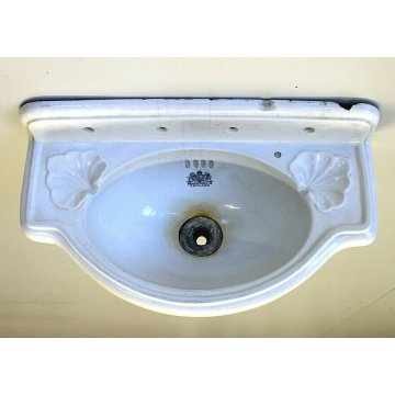 ANTICO LAVANDINO LAVABO CERAMICA BIANCA ANTIQUE ENGLISH CERAMIC SINK LIBERTY