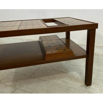 TAVOLINO BAR VINTAGE ANNI 60 DESIGN SALOTTO TAVOLO MID CENTURY PIASTRELLA TABLE