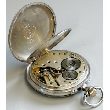 ANTICO OROLOGIO TASCA Longines ARGENTO 800 EPOCA 1900 OLD SILVER POCKET WATCH