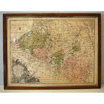 ANTICA STAMPA LITOGRAFIA CARTA GEOGRAFICA Nouvelle Carte Du Cercle De Borgogne