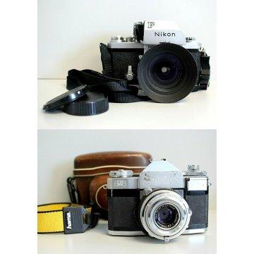 LOTTO MACCHINE FOTOGRAFICHE ANALOGICHE SLR  VINTAGE Nikon F PHOTOMIC - Contaflex