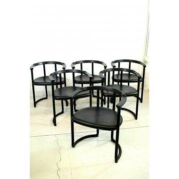 """LOTTO 6 SEDIA DESIGN Tito Agnoli  """"Achillea chair"""" YCAMI POSTMODERN ANNI '70"""