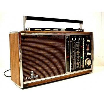 RADIO VINTAGE PORTATILE GRUNDIG SATELLIT TRANSISTOR 6001 (69/71) WOODEN EDITION