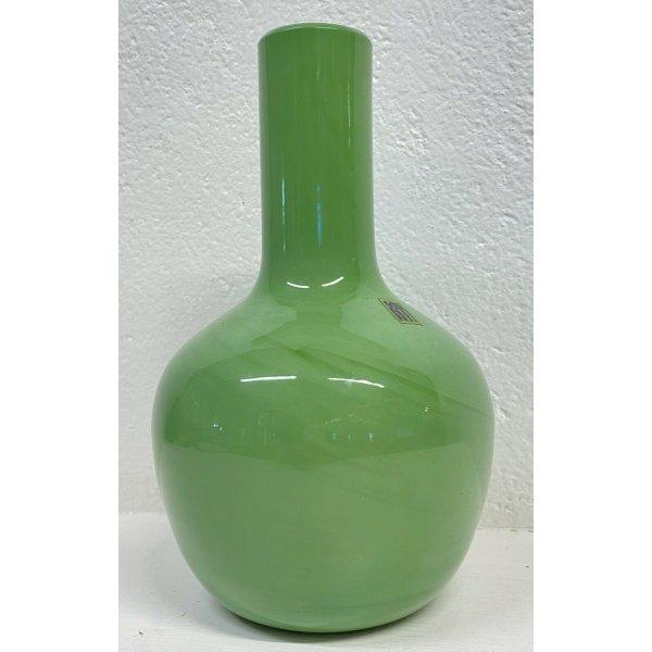 VASO DESIGN VENINI ITALY CINESI 513.00 VETRO VERDE GLASS TOBIA SCARPA ANNI 70