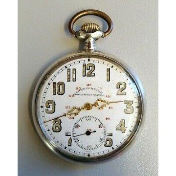 ANTICO OROLOGIO TASCA Corgemont Watch EPOCA '900 ARGENTO 800 OLD POCKET WATCH